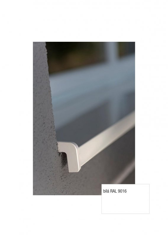 Bent Aluminium Schweller (nos 25 mm) - WHITE